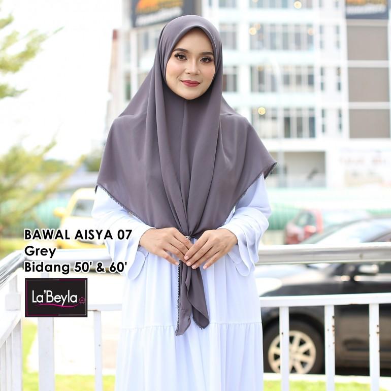 BAWAL SULAM  AISYA 07- Grey