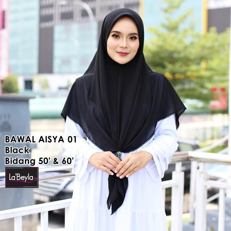 BAWAL SULAM  AISYA 01 - Black