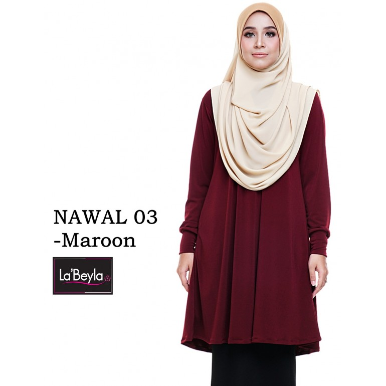 NAWAL 03 (Blouse) - Maroon
