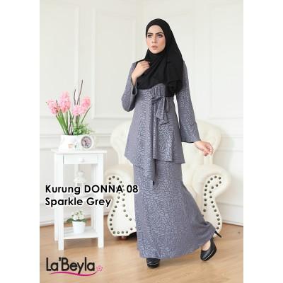 Kurung Donna 08 - Sparkle Grey