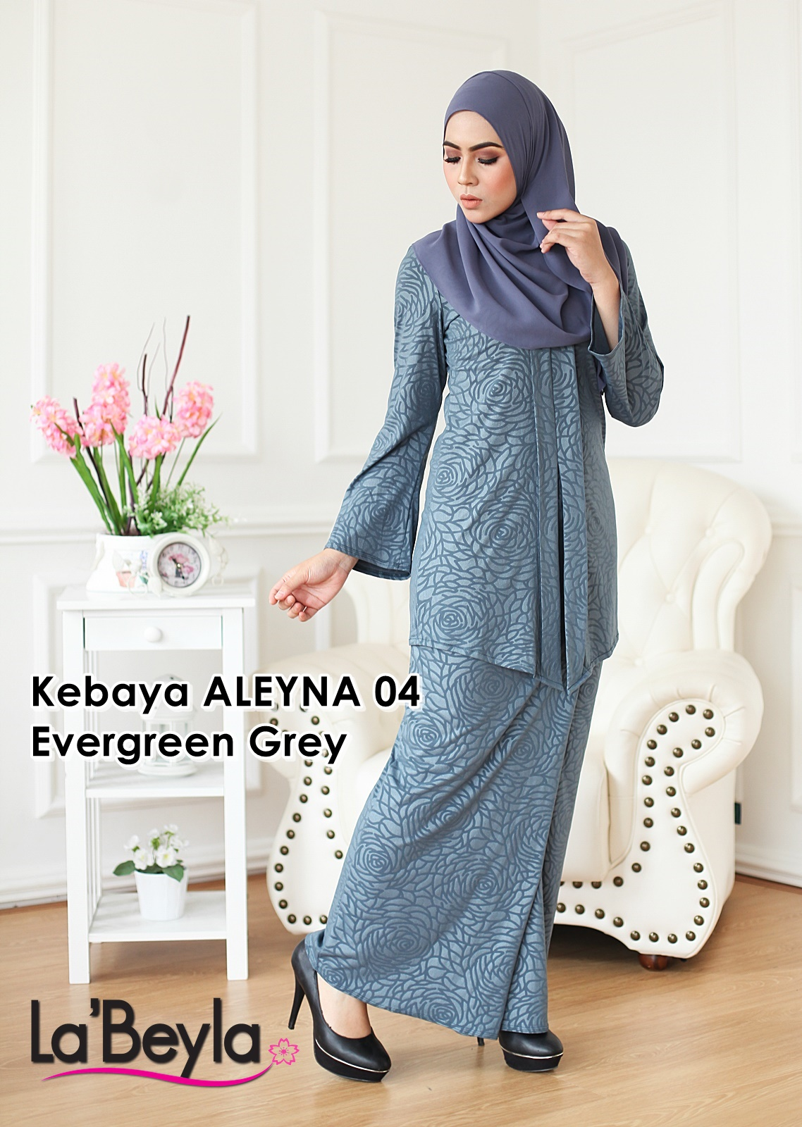 Kebaya Aleyna 04 - Evergreen Grey