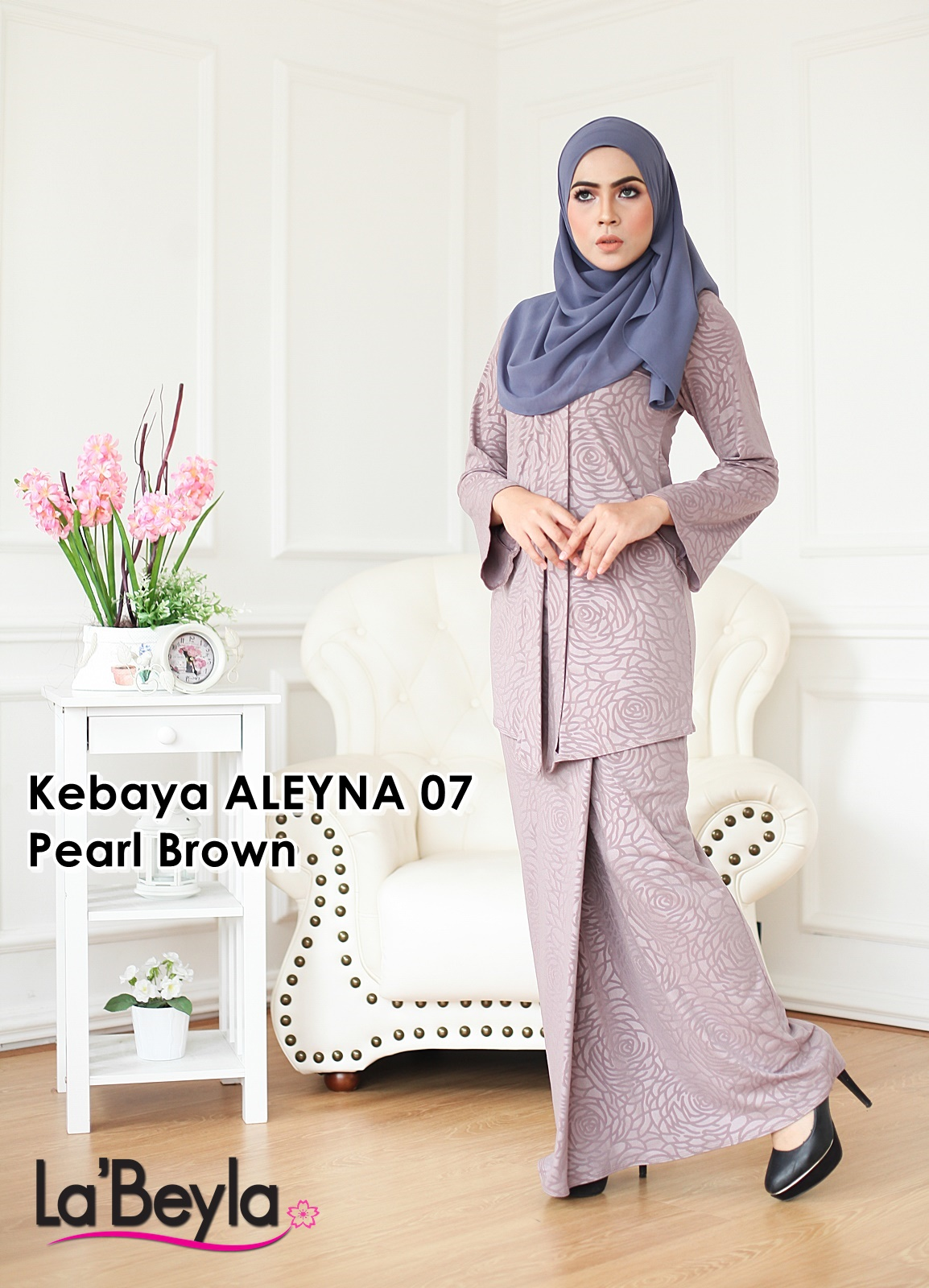 Kebaya Aleyna 07 - Pearl Brown