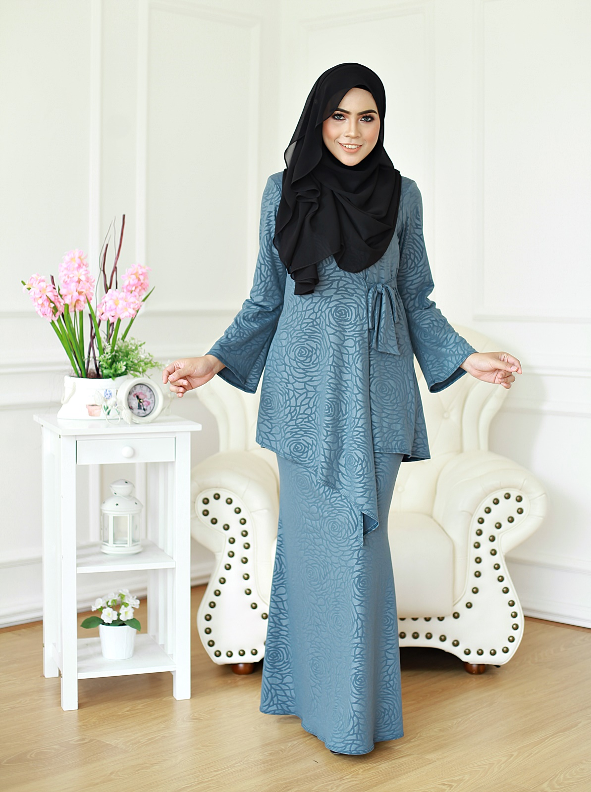 Kurung Donna 01 - Evergreen Grey
