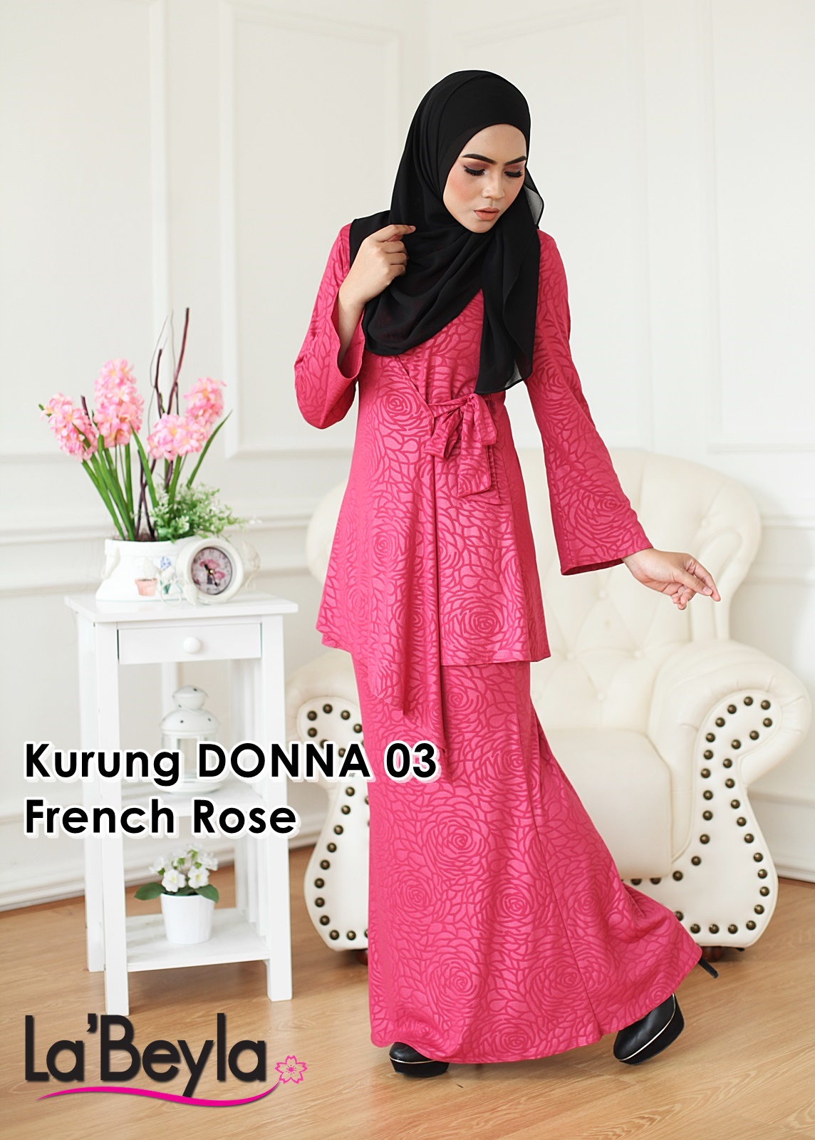 Kurung Donna 03 - French Rose