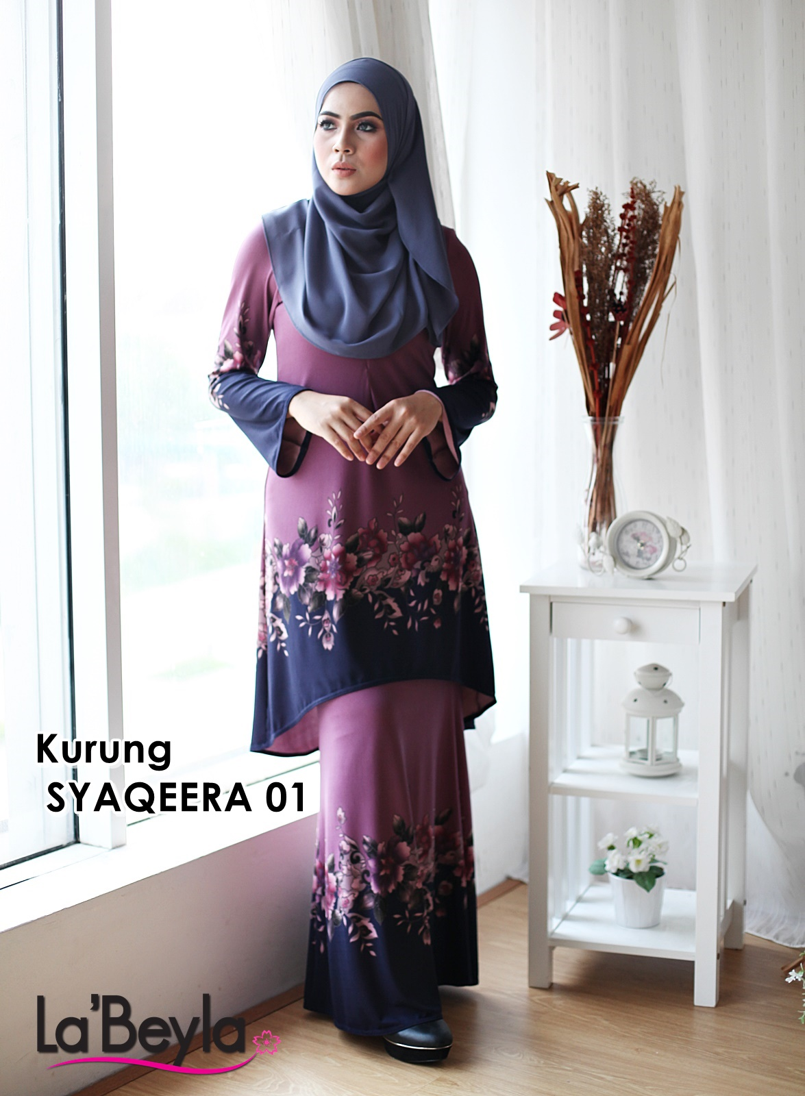Kurung Syaqeera 01 - Dolly Pink